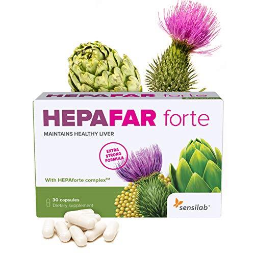 Hepafar Forte | Mariendistel, Artischocke, Löwenzahn Komplex | 120 Kapseln hochdosiert | mit Vitamin E, Phospholipide | Innovative patentierte Formel mit hoher Bioverfügbarkeit