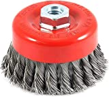 FixKit Twisted Cup Brush for Removing Rust,Paint,AS Well AS for POLISHING