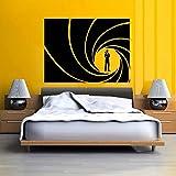 YIYEBAOFU Calidad Bond Golden Gun Vinilo Arte de la Pared Pegatina calcomanía decoración del hogar...