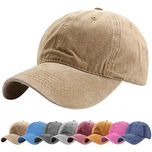 UMIPUBO Cappello da Baseball Cappellino Baseball da 6 Pannelli con Fori di Ventilazione Ricamati in Cotone Berretto Sportivo Berretto da Baseball Cappelli (4 Colori (Kaki)