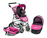 Bayer CHIC 200063712–Set Passeggino 3in 1Emotion all in, a Pois, Blu/Rosa...