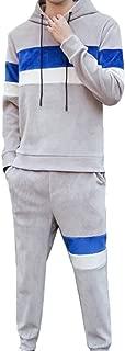omniscient Men's Tracksuit Velvet Hoodies Sweatshirts and Pants 2 Piece Set