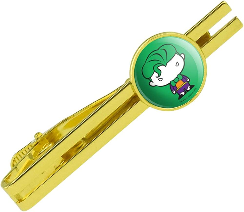 GRAPHICS & MORE Batman Joker Cute Chibi Character Round Tie Bar Clip Clasp Tack Gold Color Plated