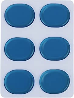 Muslady 6pcs/set Drum Damper Gel Pads Snare Tom Drum Muffler Mute Transparent