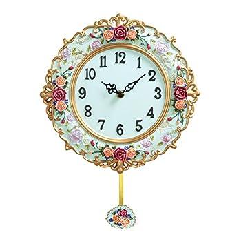 Dr.me Collections Etc Antique Victorian Rose Pendulum Clock