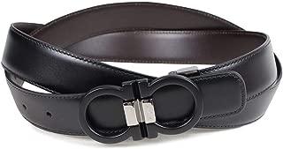 Salvatore Ferragamo Double Gancini Buckle Black/Brown Adjustable/Reversible Belt …