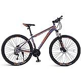 Adulto Bicicleta De Montaña, Motos De Nieve Playa De Bicicletas, Bicicletas Doble Freno De Disco, 26/29 Pulgadas De Aluminio Ruedas De Aleación, 33 Velocidades,C,29inch