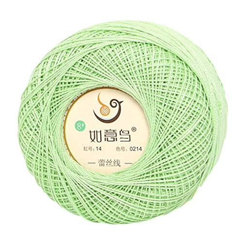 50 g dünnes Baumwollgarn zum Selbermachen, Candy-Farbe, handgewebt, Seide, leichtes Garn