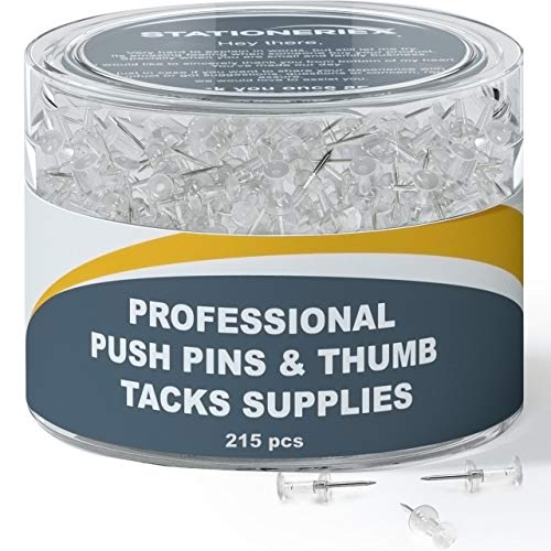(32% OFF) 215 Clear Push Pins $4.10 Deal