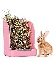 zfdg Comedero de Heno, Jaula para Heno para Conejos, Comedero Heno para Conejo, Alimentador de Heno, para Conejos, Conejillo de Indias, Chinchilla, Animales Pequeños, Alimentación de heno (Rosa)