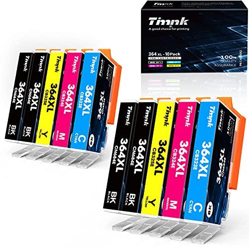 Timink Cartuchos compatibles para HP 364 XL negro color tinta impresora HP reemplazo Deskjet 3070A 3520 3522 Officejet 4610 4620 4622 Photosmart 5510 5511 5512 5520 5522 6512 6515 6520, 10 unidades