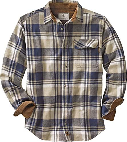 Legendary Whitetails Men's Standard Buck Camp Flannel Shirt, Shale Plaid, X-Large