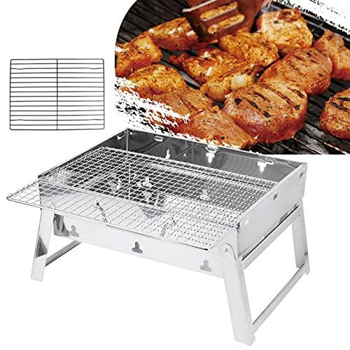 Parrilla de barbacoa Parrilla de carbón de acero inoxidable fácil de usar para barbacoa japonesa para barbacoa Pavo para barbacoa Kebab