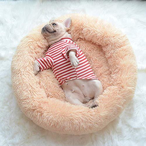 Cama para mascotas cálida y esponjosa, cama para perros, cojín de peluche suave para perros, cama para gatos, perros pequeños/medianos, lavable a máquina, 70 x 70 cm, QIANGQIANG