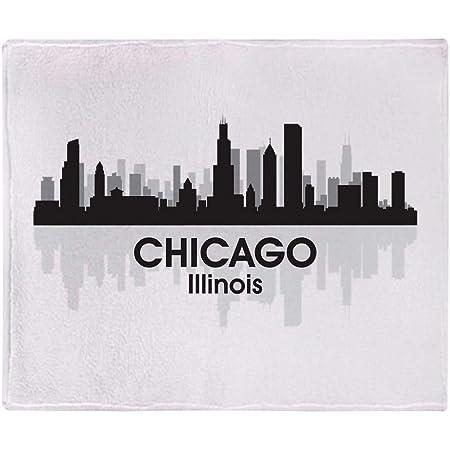 Amazon Com Cafepress Chicago Skyline Throw Blanket Soft Fleece Throw Blanket 50 X60 Stadium Blanket Home Kitchen