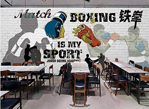 3D Foto tapete Wandgemälde Muay Thai Karate Bilder Fitnessstudio Boxraum Yoga Raumdekoration Poster Tapete-400Cmx280Cm(Lxh)