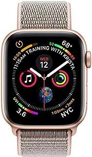 Apple Watch Series 4-44mm Gold Aluminum Case with Pink Sand Sport Loop, GPS, watchOS 5