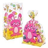 Baker Ross Sacchetti in cellophane coniglietti pasquali (confezione da 30) - Da utilizzare per feste a tema pasquale o per distribuire dolcetti