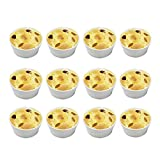 BPFY 12 Pack 7oz White Porcelain Ramekins Bakeware, Ceramic Souffle Dishes, Baking Cups for Custard, Pudding, Creme Brulee, French Onion Soup Bowls