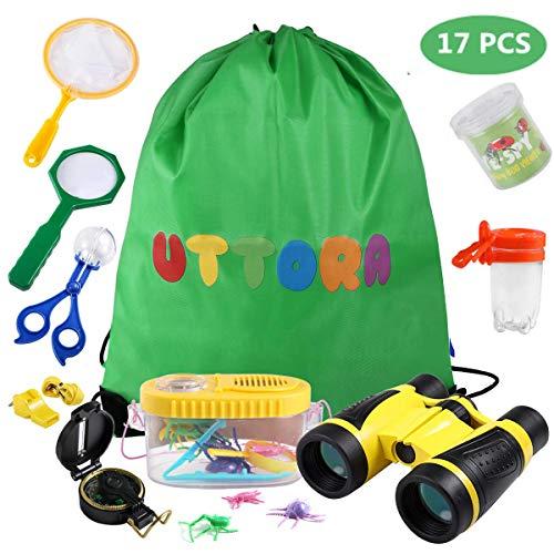 UTTORA Prismaticos niños,Kit de Binoculares para Niños ,