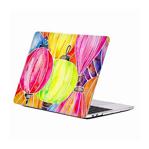 Officiële Cat Coquillette Regenboog Lantaarns Patronen Hard Crystal Case Cover Compatible for Apple MacBook Pro 13