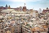 NOBRAND Lienzo de Bricolaje Regalo de Pintura al óleo para Adultos niños Génova Italia Turismo Ciudad Liguria