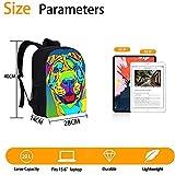 RomantiassLu mochilas para niños Mochila escolar impresa en 3D dog print backpack Mochila unisex para adolescentes niño niña camping y senderismo mochilas 16inch Mochila animal lindo