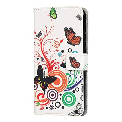 Shukukan Huawei Honor 20 Pro Hoes, Schattig Patroon PU Lederen Portemonnee Stand Folioblad Flip Cover Cases met Kaarthouders Anti Slip Magnetische Bescherming Telefoon Holster voor Huawei Honor 20 Pro Bloem