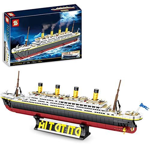 IIKA Technician Titanic Modelo 1333 piezas de ladrillos de crucero clásico modelo de bloques de construcción de partículas pequeñas, compatible con Lego