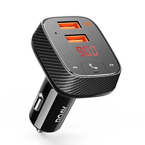Anker Roav FM Transmitter F2(FMトランスミッター搭載 19.5W 2ポート カーチャージャー)【Bluetooth 4.2 / カーファインダー / ハンズフリー通話対応 / PowerIQ搭載】