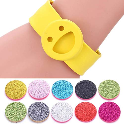 Pulseras de Aromaterapia Colorido Smile aromaterapia pulsera pulseras palmada del silicón de...