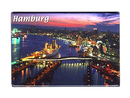 City Souvenir Shop Magnet Luftbild Hamburg
