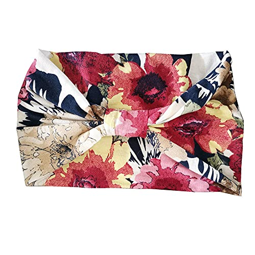XLZYQ Moda Mujer Niñas Verano Bohemio Bandas para El Cabello Diademas con Estampado Vintage Bandas para El Cabello Accesorios para El Cabello-F