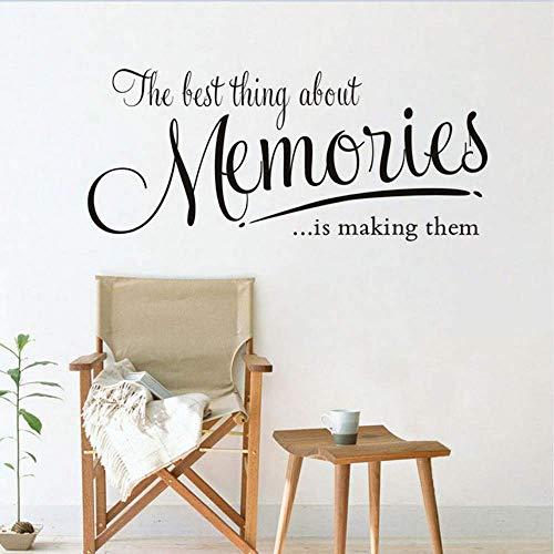 The Lost Thing About Memories Cita Etiqueta De La Pared Autoadhesiva Pvc Extraíble Habitación Bebé Dormitorio Mesa Mural Decoración Para El Hogar 57X25Cm