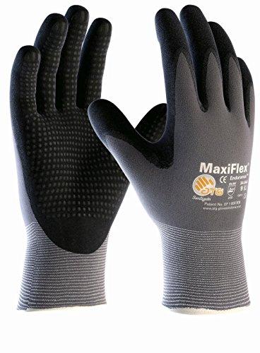 (5 Paar) ATG Handschuhe 34-844 Montagehandschuhe MaxiFlex Endurance 5 x grau/schwarz 10 (XL)