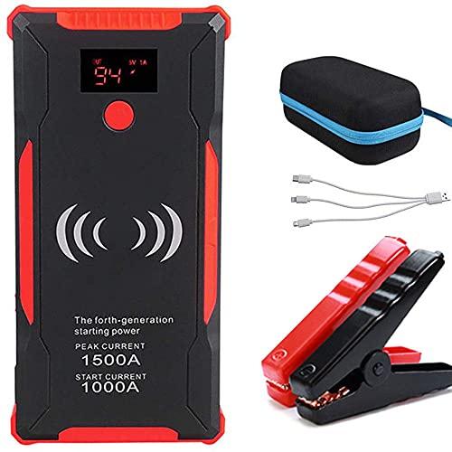 1500A/22000mAh del Banco Portable de la Energía del Salto del Coche del Arrancador, 12v Auto Batería De Refuerzo, con Puerto USB/Linterna LED para Viajes, Camping, Emergencia,Red