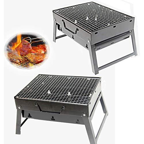 51SwdVvL19L - Grills Kochplatten Holzkohlegrill im Freien beweglichen Faltbarer Barbecue Gratis Maschendraht Grillzubehör (Size : L)