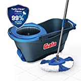 Gala Turbo Spin Mop with patented Turbo Clean Fibers that helps in removing over 99% E.coli & S.aureus bacteria from floorings including ceramic tiles using tap water. For Killing bacteria, use of an environmental friendly disinfectant is recommended...