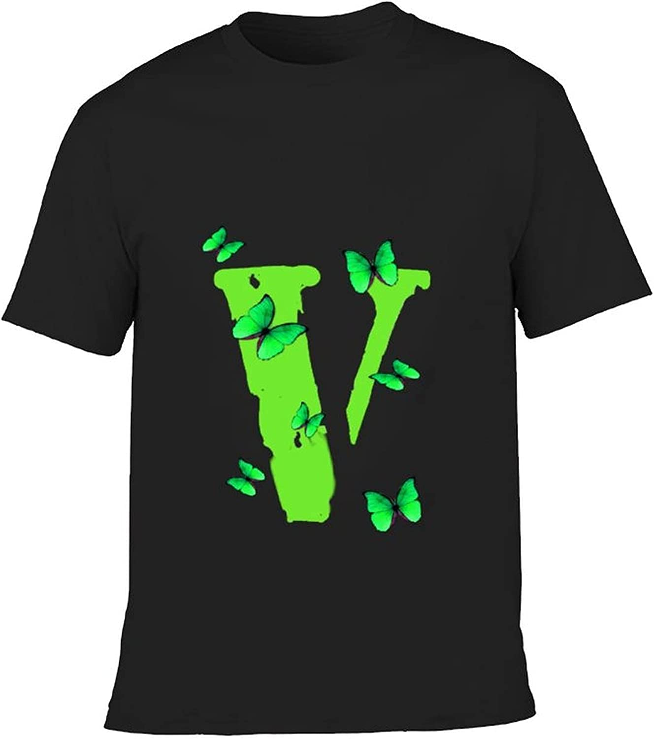 Vlone Big V Kid's Casual Graphic Round Neck Short Sleeve T-Shirt Cozy Trendy Cotton Tee Shirts Tops for Boys Girl