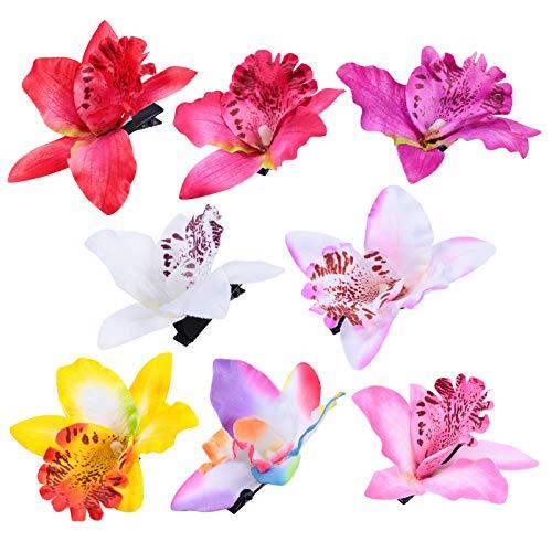 ABOOFAN Lot de 8 épingles à cheveux en forme d'orchidée pour mariage