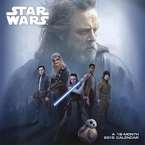 Star Wars Episode VIII The Last Jedi 2018 Wall Calendar