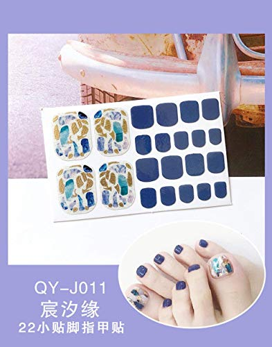 BGPOM Foot Stickers Nail Stickers Nail Stickers Fully Waterproof Lasting 3D Toenail Stickers Patch 10 Sheets/Set,Chen Xiyuan (QY-J011)