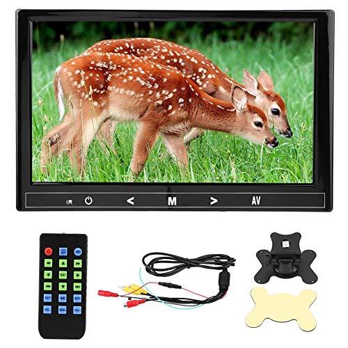 Reproductor MP5 para automóvil, interruptor automático Visual Reproductor de video para automóvil de 9 pulgadas, para conexión de cámara de vista frontal y lateral Reproducción de video HD