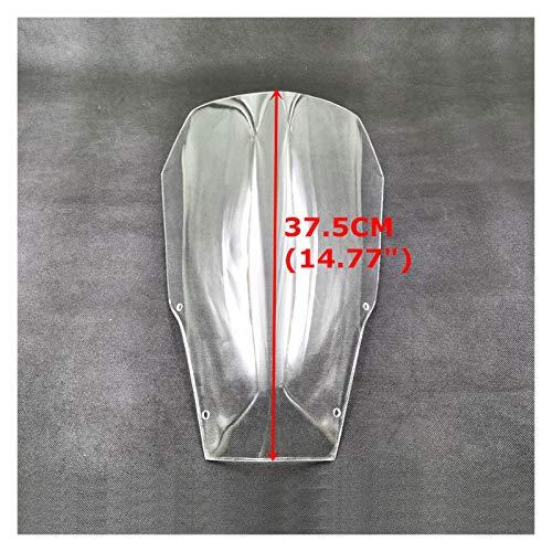 LIZONGFQ Zhang Asia Aptos for la XT660R 04-16 Superior 10 cm / 15 cm Parabrisas Parabrisas odómetro Viser Visera Raised Viento Escudo de Cristal en Forma for Yamaha XT660 R 2004-2016