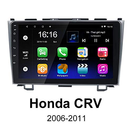 Binize Android Car Stereo Radio, 9 Inch Touch Screen Multimedia Player, GPS Navigation/FM/WiFi/Bluetooth/USB, Support Backup Camera Input(for Honda CRV 2006-2011) (CRV 2GRAM+16GROM)