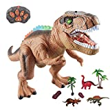 WISHTIME Dinosaurio de Control Remoto ElectricToy Kids RC Animal Toys LED Light...