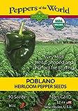 Poblano Pepper - 10 Seeds Organic - Authentic...