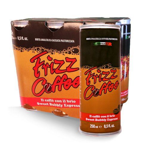 Frizz Coffee Sweet Bubbly Espresso, 8.5 oz cans - Pack of 24 cans