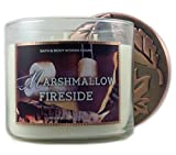 Bath & Body Works Home Marshmallow Fireside Scented Candle 3 Wick 14.5 Ounce 2015 Edition