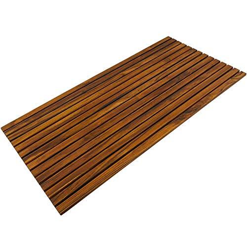 PrimeMatik - Tarima para Ducha y baño Rectangular 100 x 50 cm de Madera de Teca certificada